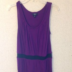 Mossimo purple tunic with black waist band